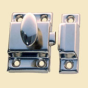 """A"" Nickel Plated Cabinet Cupboard Turn Latch, Stamped Steel  BI-15AAN N-1432 BM-1617PN"