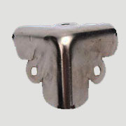 Pair of Nickel Plated Steel Trunk Corners DVCL-02241088