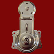 Nickel Plated Steel Trunk Lock and Two Keys Flush Mount OBG-1NP/TKL-1N