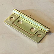 2 Inch Brass Plated Non Mortise Hinge Between Door and Cabinet HS-2662P