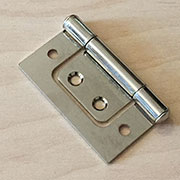 1-1/2 Inch Nickel Plated Non Mortise Hinge Between Door and Cabinet HS-26615N