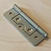 2-1/2 Inch Nickel Plated Non Mortise Hinge Between Door and Cabinet  HS-26625N