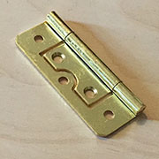 2-1/2 Inch Brass Plated Non Mortise Hinge Between Door and Cabinet HS-26625P