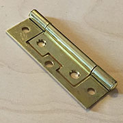 3 Inch Brass Plated Non Mortise Hinge Between Door and Cabinet HS-2663P