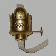 Brass Oil Lamp Burner Nutmeg B-9522