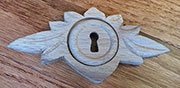 Victorian Oak Leaf Design Keyhole Cover Wood W3-0133