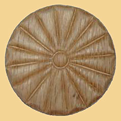 2-13/16 Inch Diameter Round Oak Pinwheel Applique W3-5797