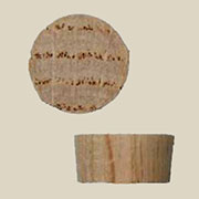 Tapered Flat Top Oak Wood Plugs End Grain 1/2 50 Count. W3-6514
