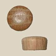 Round Button Oak Screw Hole Plugs 50 Count W3-6524