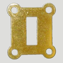 Oak Telephone Brass Hook Hole Switch Cover B-9946