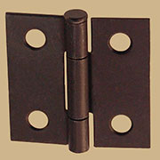 Pair of Loose Pin Oil Rubbed Bronze Steel Butt Hinges
