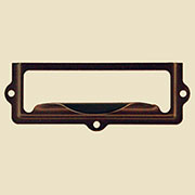 Oil Rubbed Bronze File Card Label Holder BM-1401OB