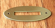 Oval Bank Coin Slot Plate Polished Brass B-9852