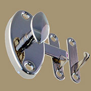 """K"" Hoosier Style Oval Latch BM-1607PN Nickel KC-6N"