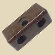 Desk Modesty Panel Fastener Block Brown  PO675B