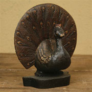 DISCONTINUED WILL NOT SHIP. Peacock Cast Iron Doorstop Homart HA-1529-0
