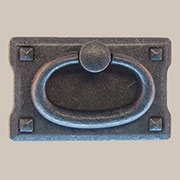 Arts and Crafts Mission Style Pewter Drawer Door Pull PW-0689 BM-6027