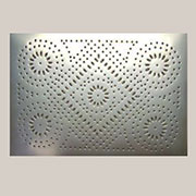"""C"" ONLY ONE LEFT IN STOCK Pie Safe Tin Diamond and Circle Pattern 10x14 Inches 4 or more for $9.00 each PST-8"