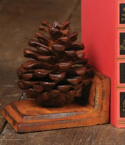 Pair of Homart Cast Iron Pinecone Bookends HA-1648-1