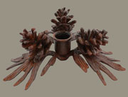 Pinecone Candle Holder in Cast Iron Homart HA-1571-13