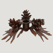 DISCONTINUED, WILL NOT SHIP. Pinecone Candle Holder in Cast Iron Homart HA-1571-13