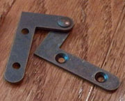 Bottom and Top of Door Hinges Pair Right Angle Inset  H-163L