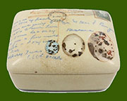 Post & Quill Porcelain Lidded Box by Homart HA-7022-46