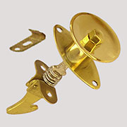 China Cabinet Push Button Latch Knob in Brass KP-6 BM-1290PB