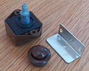 Brown Push Button L-9291B