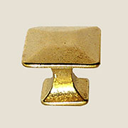 Pyramid Knob Polished Cast Brass BM-1262PB  1 Inch K-62