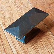Windover Antique Brass Pyramid Drawer Pull Darker Version P-2152-WOAHERSCHVIET