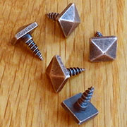 Antique Copper Gustav Stickley Type Pyramid Screw for Drawer Pull AC-2998 BM-1014AC