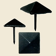 Pyramid Head Tacks Matte Black 12 Count