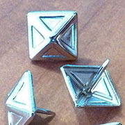 Pyramid Head Tacks Nickel Plated 100 Count