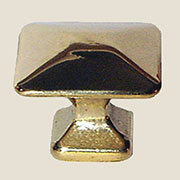 Pyramid Knob Polished Cast Brass BM-1263PB 1-1/4 Inch