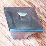 Pair Nickel Plated Square Pyramid Knob Old Stock OS-100