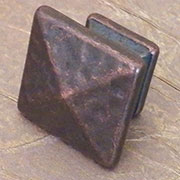 Antique Copper Hammered Mission Arts and Crafts Pyramid Knob D942ACHERSH