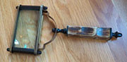 DISCONTINUED WILL NOT SHIP Rectangular Brass and Bone Magnifying Glass UDA-1185