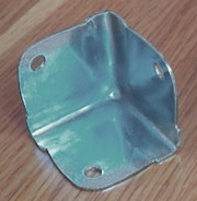 Zinc Plated Steel Trunk Corner RH-1570