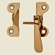 """R"" McDougall Style Brass Latch Right Hand 3/8 Inch Offset B-1537"