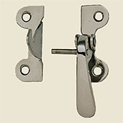"""E"" Nickel Plated Right Hand Hoosier Latch 3/8 Inch Offset VHI-N10"