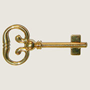 Roll Top Desk Lock Key Solid Brass B-1977
