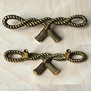DISCONTINUED, WILL NOT SHIP. Rope Drawer Pull with Tassels TR-T442/170P