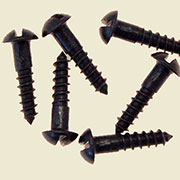 Black Finished Round Head Slotted Wood Screws 20 Count 5x5/8 BM-1009OB
