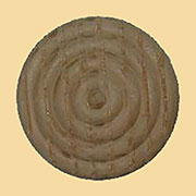 1-1/16 Inch Diameter Round Turned Oak Wood Ornament W3-5750