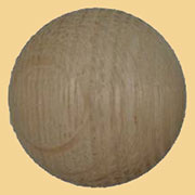 1-3/4 Inch Diameter Round Oak Wood Appliqu� Ornament W3-5784