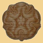 1-1/4 Inch Diameter Round Oak Wood Applique W3-5791