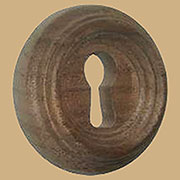 Round Beehive Walnut Keyhole Cover 1-5/16 Inch Diameter W2-0100