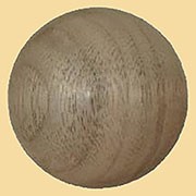 1-3/4 Inch Diameter Ornament Walnut Round W2-5784