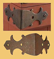 Slat Clamp for Wood Trunk Strips L Shape Rusty Iron